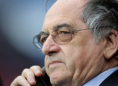 French Football President Noel Le Graet has complained that the play-off seeding system is