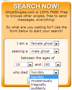 ghost singles is a dating site for ghosts Free swedish dating site helping men and women to find online love our 100% free singles service offers secure and safe dating experience in sweden entertainment news from the state in columbia sc newspaper in the midlands.