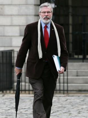 Gerry Adams last week