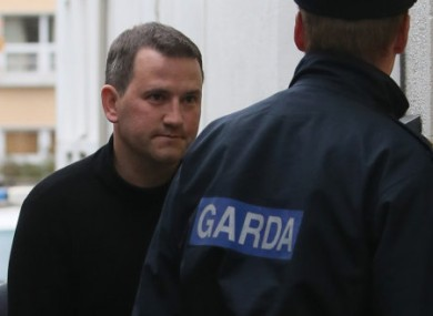 Graham Dwyer being escorted into Dun Laoghaire District Court last Friday.