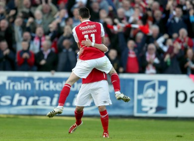 Pat's the stuff: Brennan and Bolger nominated for PFAI Player of the Year.