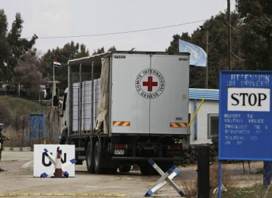 File: An International Committee of the Red Cross (ICRC) truck.
