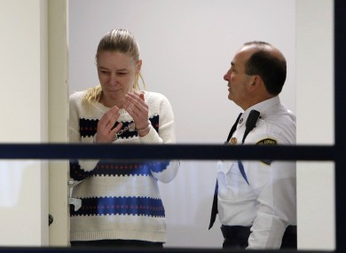 Irish nanny Aisling McCarthy Brady appears at Middlesex Superior Court, Boston, in April of this year.