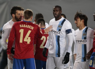 Yaya Toure and players from both side during the game.