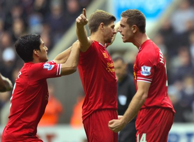 Steven Gerrard brought up his ton for Liverpool today.