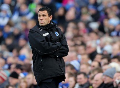 Poyet was last in charge of Brighton.
