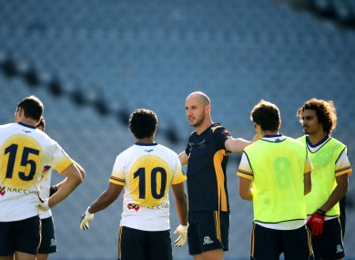 Kennelly and the Australia squad trained at Croke Park yesterday.