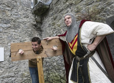 Travel blogger Austin Matta from the US gets an unusual welcome in Kilkenny.