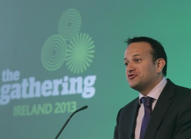 Transport Minister Leo Varadkar speaks during the launch of The Gathering Ireland 2013 at Dublin Castle