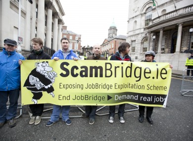 An earlier protest by ScamBridge.ie