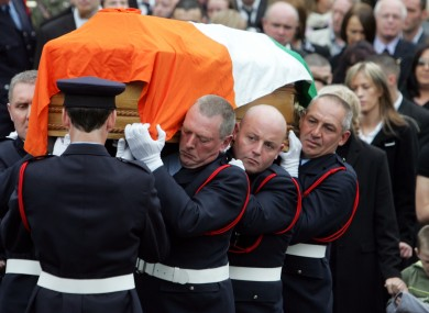 The funeral of fireman Brian Murray in Bray in 2007.