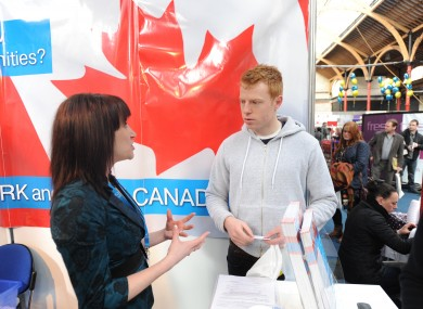 Working Abroad Expo in Dublin.