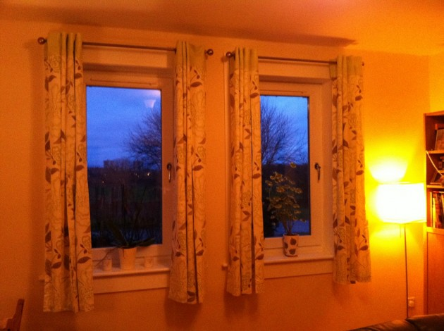 Curtains, open