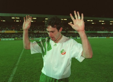 Alan McLoughlin leaves the Windsor Park pitch not knowing if his equaliser was enough.