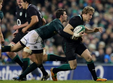 Ruan Pienaar (South Africa) and Andrew Trimble (Ireland) clash in last season's November Test.