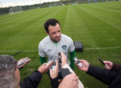 Andy Reid: made his international return, without the guitar, against Kazakhstan last month.