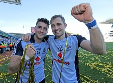 Bernard and Alan Brogan celebrate winning the All-Ireland final.