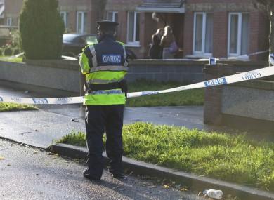 Gardaí at the scene in Blanchardstown on Thursday morning