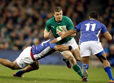 Brian O'Driscolls made Ireland cap 126 against Samoa today.