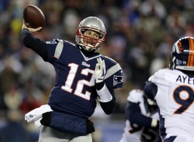 Brady making a pass.