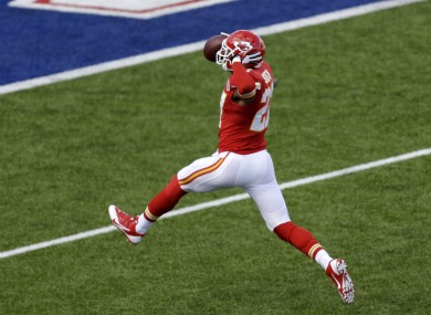 Turnovers, like the 101-yard interception Sean Smith made earlier this season, will be key for the Chiefs this weekend.