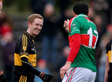 Dr Crokes' Colm Cooper and Michael Webster of Loughmore Castleiney.