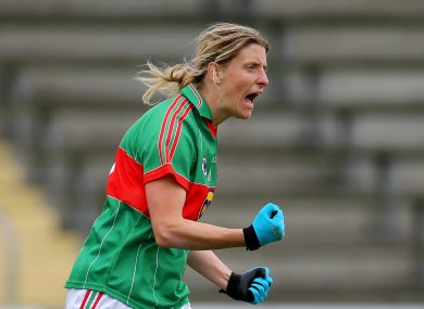 Mayo's Cora Staunton was on target today.