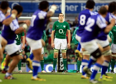 Devin Toner faces the Siva Tau in 2010.