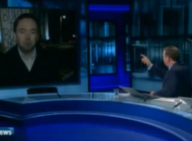 Bryan Dobson with economist Ronan Lyons on the Six One News last night