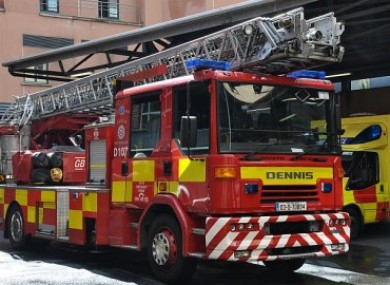The D107 turntable ladder involved in the crash