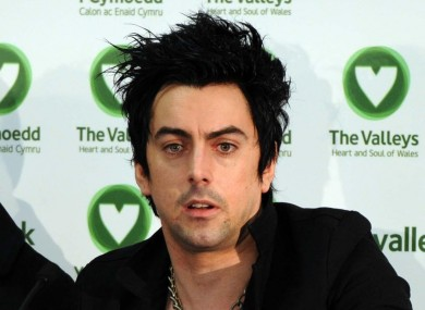 Lostprophets vocalist Ian Watkins at a press conference in 2010.