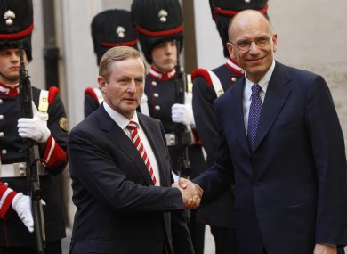 Enda Kenny and Enrico Letta in Rome last June