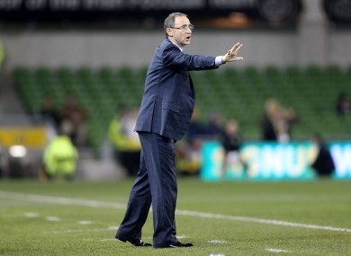 O'Neill giving instructions from the touchline.