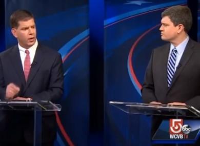 Martin Walsh and John Connolly in Boston mayor debate.