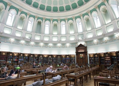 The reading room in the National L