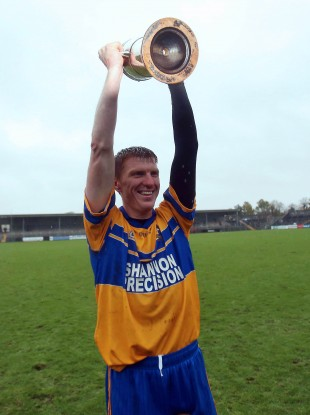 Niall Gilligan celebrates with the Canon Hamilton Cup.