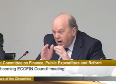 Finance Minister Michael Noonan tackles more committee hearings today