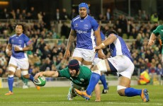 Player ratings: here's how the Irish team got on against Samoa