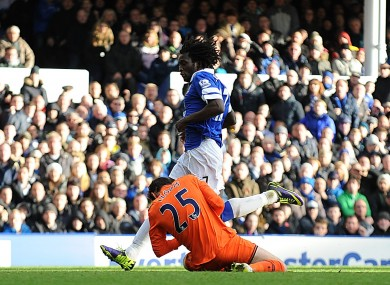 Lloris suffered the head injury when he clashed with Lukaku's knee.