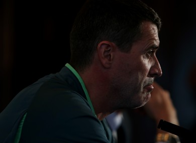 Ireland assistant manager Roy Keane today.