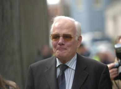 Tom Gilmartin arriving at Dublin Castle in 2004.