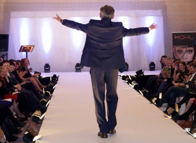Richard Bruton at the charity fashion show involving members of the Oireachtas during the week.
