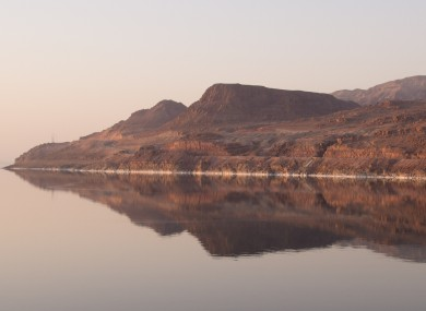 Morning Mountain on the banks of the Dead Sea