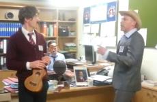 Former Dubs star Shane Ryan sings in school's Anchorman parody