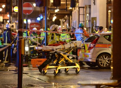 Emergency services at the scene at the Apollo Theatre