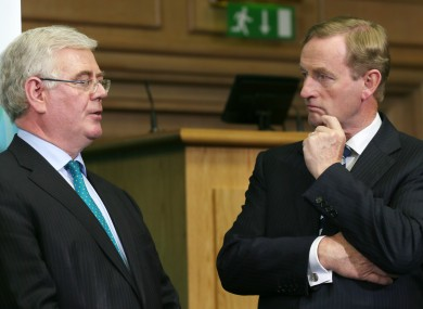 Tanaiste and Labour Party Minister for Foreign Affairs Eamon Gilmore, with Taoiseach and Fine Gael leader Enda Kenny
