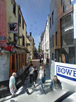 A view towards the Paul St area of Cork city
