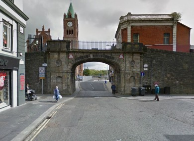 The junction of Shipquay Street and Shipquay Place