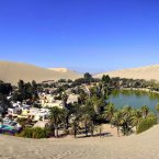Take a dune buggy ride in Huacachina, a literal oasis in the Peruvian desert. The resort town was built around a small, natural lake in the Southwestern Ica Region, and is popular for tourists who want to try