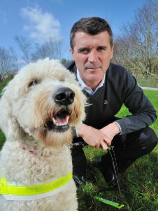 Keane with guidedog Zeta in Cork.